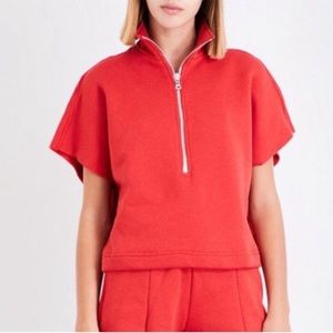 Good American Chunky Cropped Zip Up Pullover
